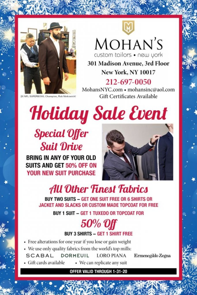 Mohan's Holiday Sale Event