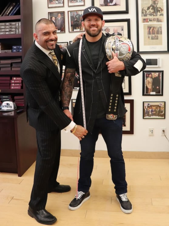 MMA Champion Ryan Bader with Victor Mohan
